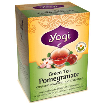 Green Tea Pomegranate 16 bags, from Yogi Tea