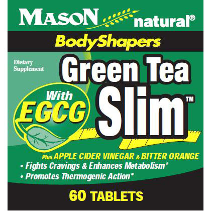 Green Tea Slim, 60 Tablets, Mason Natural