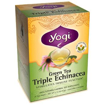 Green Tea Triple Echinacea 16 tea bags from Yogi Tea