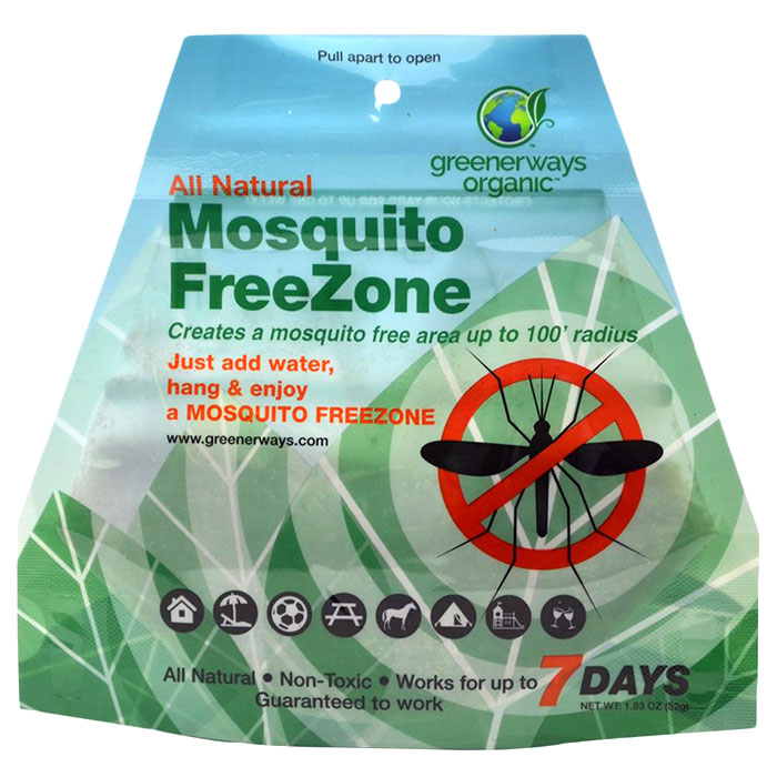 Greenerways Organic Mosquito Free Zone Pouch, Wide Area Vapor Mosquito Repellent, 1 Pouch