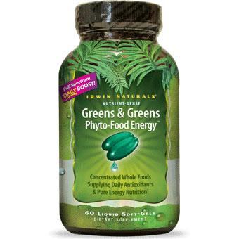Greens & Greens Phyto-Food Energy, 60 Liquid SoftGels, Irwin Naturals