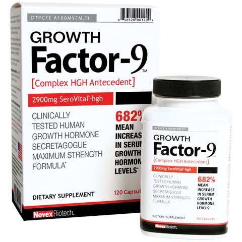Growth Factor-9, 120 Capsules, Novex Biotech
