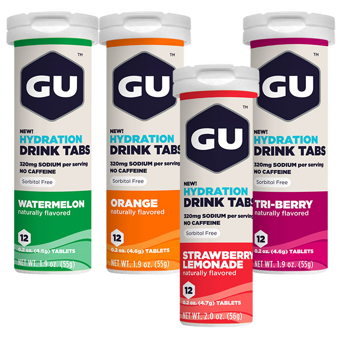 Image of GU Hydration Drink Tabs, Hydrate Electrolyte Levels, 12 Tablets x 8 Tubes