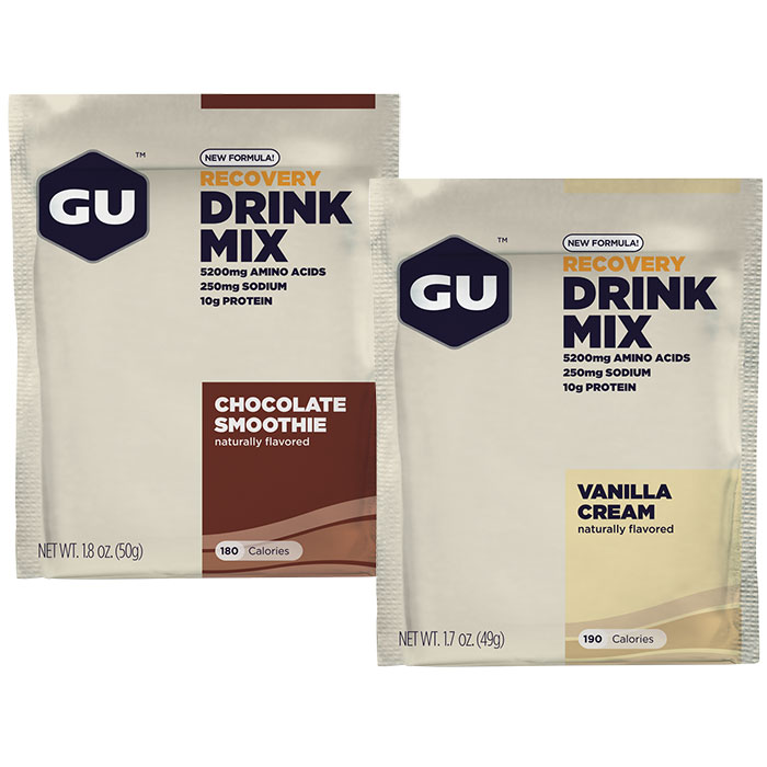 GU Recovery Drink Mix Packs (formerly Brew Recovery), 12 Packets/Box
