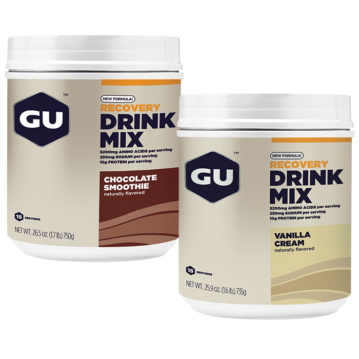 GU Recovery Drink Mix Powder Canister (New Formula), 15 Servings