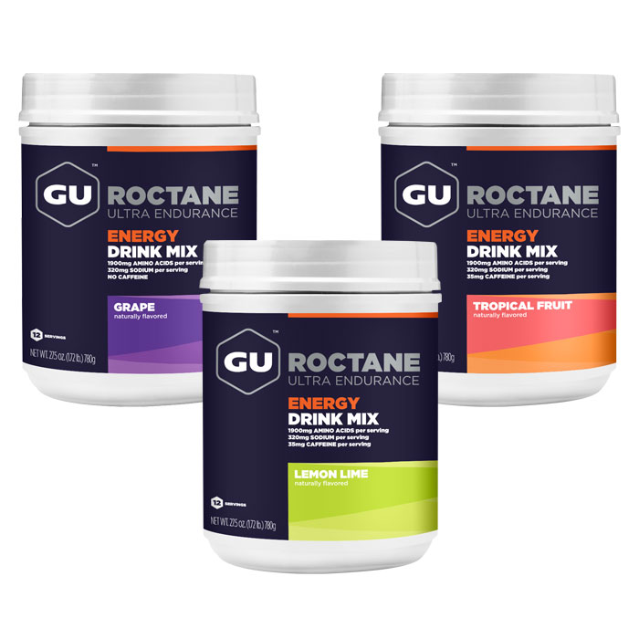 GU Roctane Energy Drink Mix Powder Canister, 12 Servings
