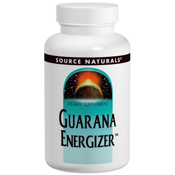 Guarana Energizer (Guarana Seed Extract) 900mg 200 tabs from Source Naturals