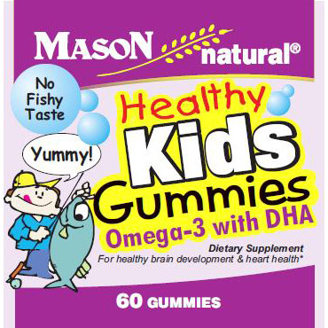 Healthy Kids Omega 3 with DHA Gummies, 60 Gummies, Mason Natural
