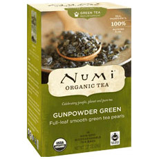 Gunpowder Green Tea, 18 Tea Bags, Numi Tea