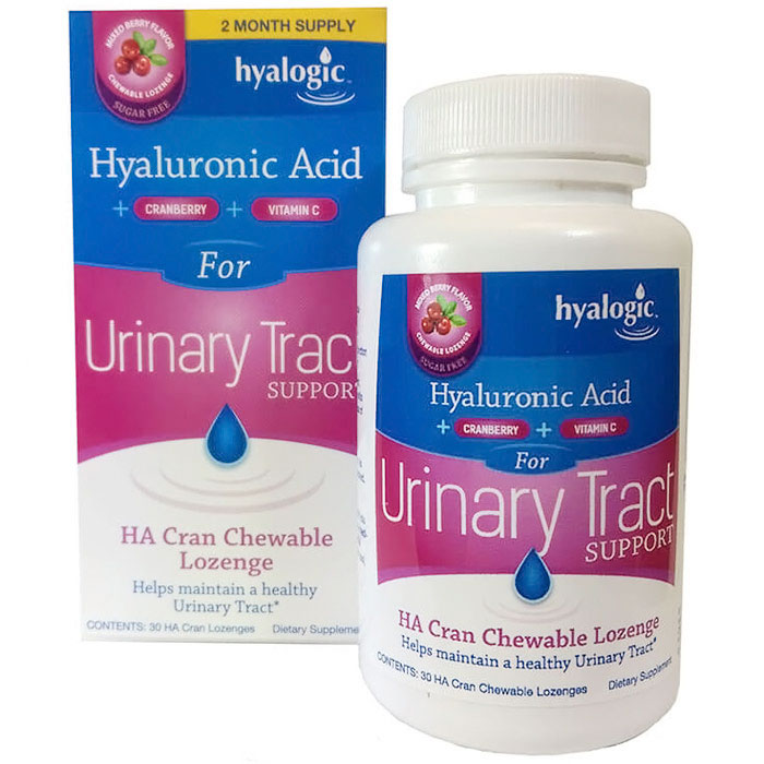 HA Cran Chewable Lozenge, Hyaluronic Acid + Cranberry, 30 ct, Hyalogic