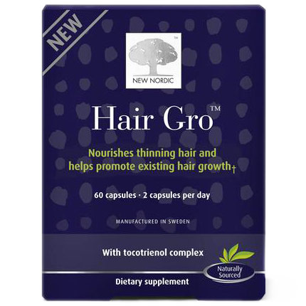 Hair Gro, Nourishes Thinning Hair & Helps Promote New Hair Growth, 60 Capsules, New Nordic