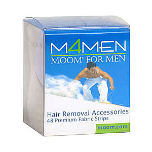 Hair Removal Accessories, Fabric Strips for Men, 48 Strips, MOOM