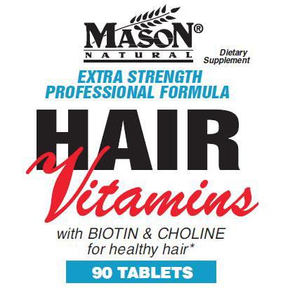 Extra Strength Hair Vitamins, 90 Tablets, Mason Natural ShopFest Money Saver