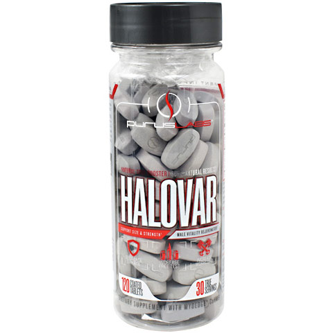 Halovar, Natural Male Hormone Booster, 120 Coated Tablets, Purus Labs