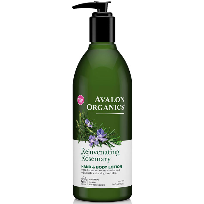 Hand & Body Lotion Organic Rosemary 12 oz, Avalon Organics