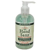 Hand Sanz with Aloe & Vitamin E, Antiseptic Hand Sanitizer, 8 oz, All Terrain
