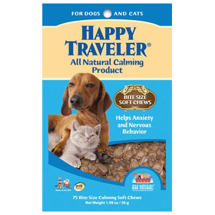 Happy Traveler Soft Chews, All-Natural Calming For Dogs & Cats, 75 Chews, Ark Naturals