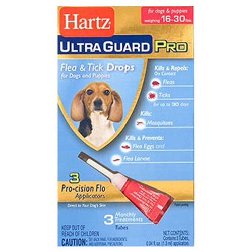 Hartz Ultra Guard Pro Flea & Tick Drops For Dogs 16lbs-30lbs, 3 Monthly Treatments
