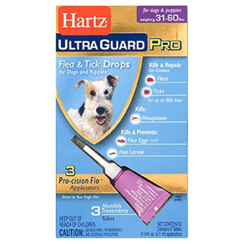 Hartz Ultra Guard Pro Flea & Tick Drops For Dogs 31lbs-60lbs, 3 Monthly Treatments
