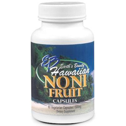 Hawaiian Noni Fruit Capsules, 60 Vegetarian Capsules, Earths Bounty
