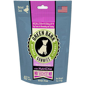 Health & Vitality with Duck, Dog Treats, 4 oz, Green Bark Gummies