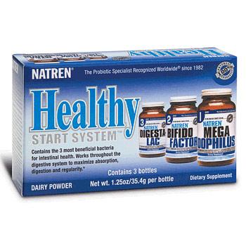 Healthy Start System, Dairy Powder, 1.25 oz x 3 Bottles, Natren