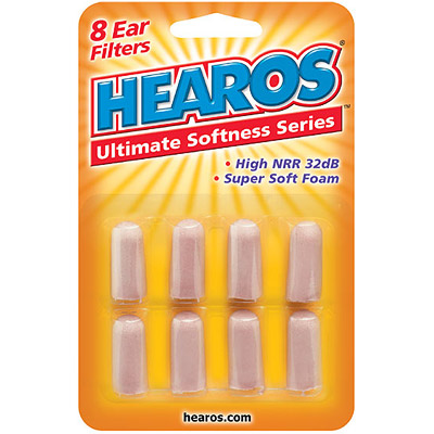 Hearos Ear Plugs Ultimate Softness Series, Super Soft Ear Filters, 4 Pair