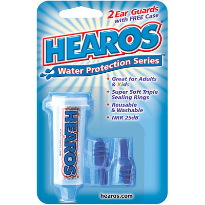 Hearos Water Protection Ear Filters with Case, 2 Filters