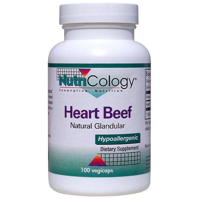 Heart Beef Natural Glandular, 100 Capsules, NutriCology