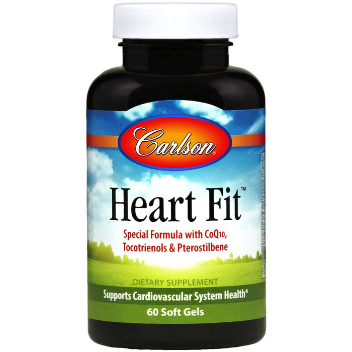Heart Fit, With Tocotrienols & Pterostilbene, 60 Softgels, Carlson Labs