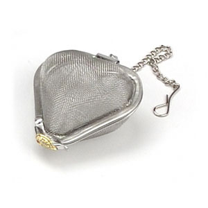 Image of Heart Shaped Tea Infuser, Stainless Steel, 2 Inches, StarWest Botanicals
