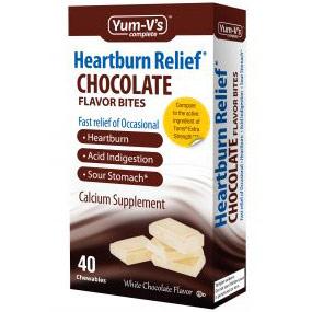 Heartburn Relief Bites, Chewable Calcium White Chocolate Flavor, 40 Chewables, Yum-Vs Complete