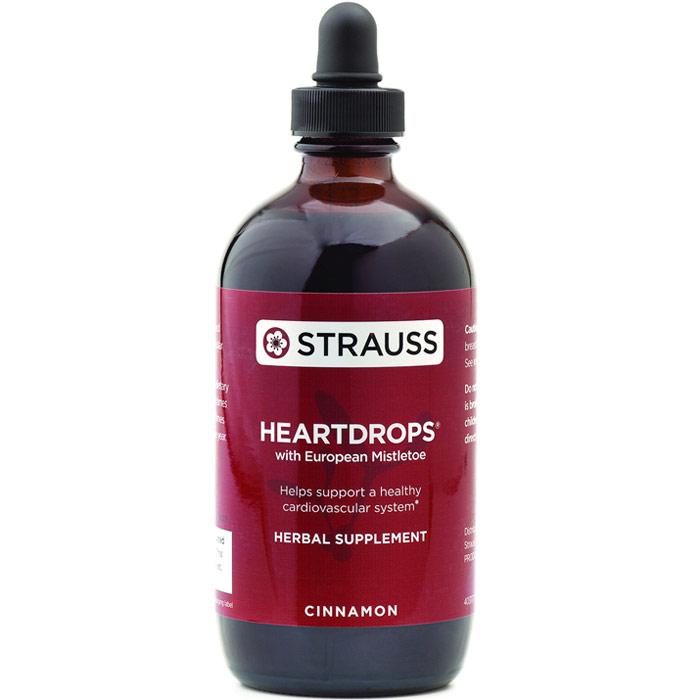 Heartdrops (Heart Drops Herbal Liquid) - Cinnamon, 3.4 oz, Strauss Naturals