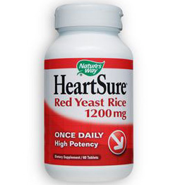 HeartSure Red Yeast Rice 1200 mg, 60 Tablets, Natures Way