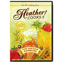 Heather Cooks! IBS Cooking Show DVD, Featuring Heather Van Vorous, 1 DVD + 8 Recipe Cards, Heathers Tummy Care