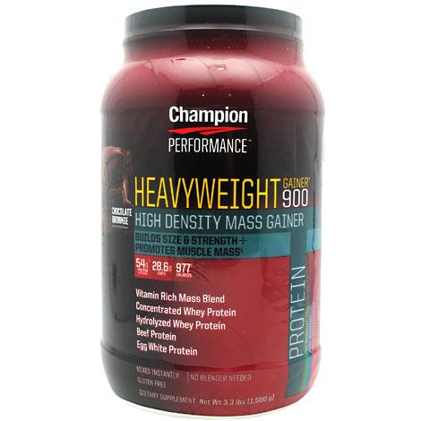Heavyweight Gainer 900, Chocolate 3.3 lb, Champion Nutrition