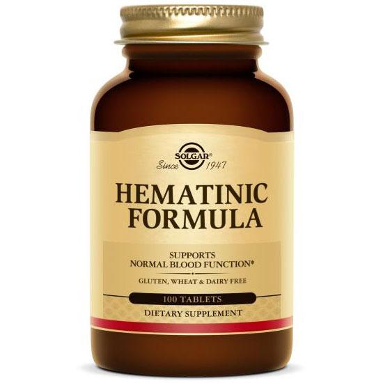 Hematinic Formula, 100 Tablets, Solgar