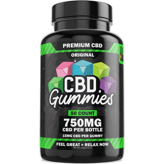 Hemp Bombs CBD Gummies, Certified Pure CBD Blend, 25 Gummies