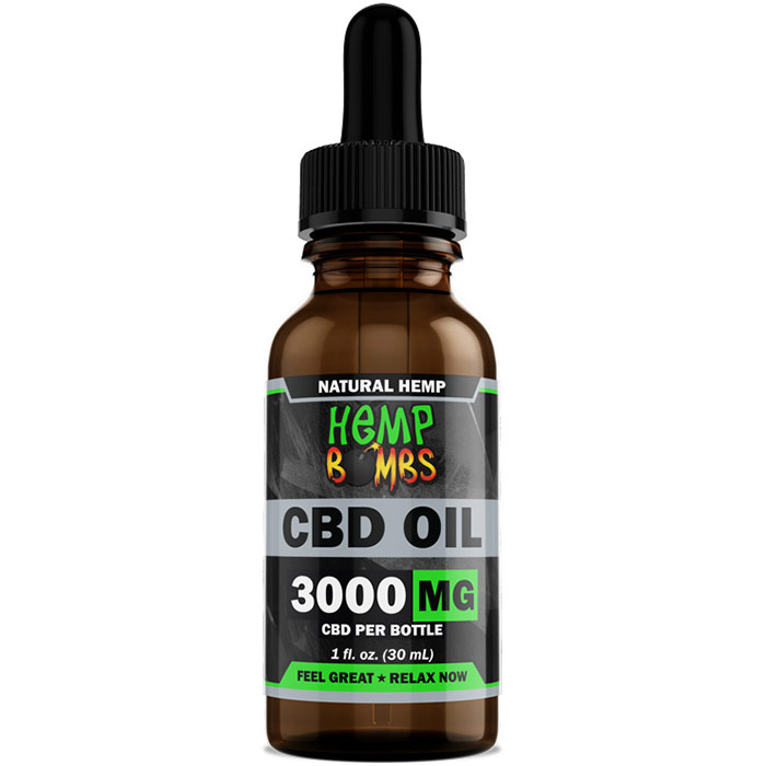 Hemp Bombs CBD Oil 2000 mg, 1 oz