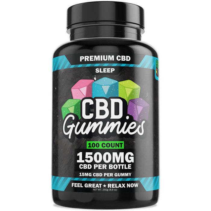 Hemp Bombs CBD Sleep Gummies, Value Size, 60 Count