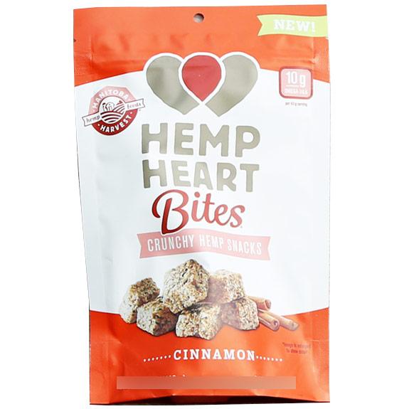Hemp Heart Bites, Crunchy Hemp Snack, Cinnamon, 1.6 oz, Manitoba Harvest Hemp Foods