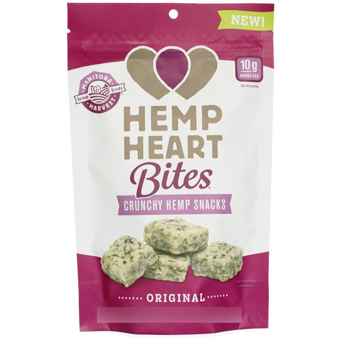 Hemp Heart Bites, Crunchy Hemp Snack, Original, 1.6 oz, Manitoba Harvest Hemp Foods