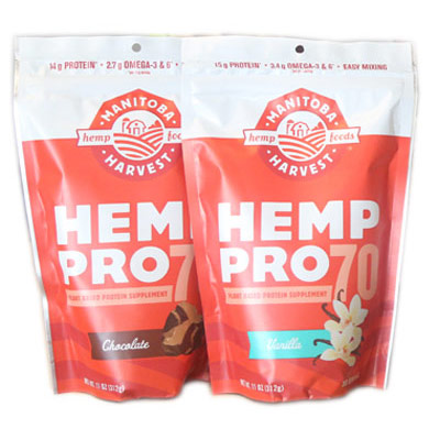 Hemp Pro 70 Protein Powder, Chocolate, 11 oz, Manitoba Harvest Hemp Foods