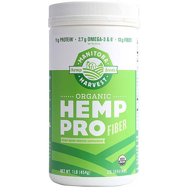 Organic HempPro Fiber, Hemp Protein & Fiber Powder, 16 oz, Manitoba Harvest Hemp Foods