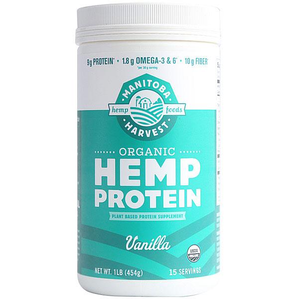Organic Hemp Protein Powder, Vanilla, 16 oz, Manitoba Harvest Hemp Foods