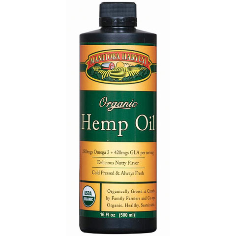 Hemp Seed Oil, Certified Organic, 16 oz, Manitoba Harvest Hemp Foods