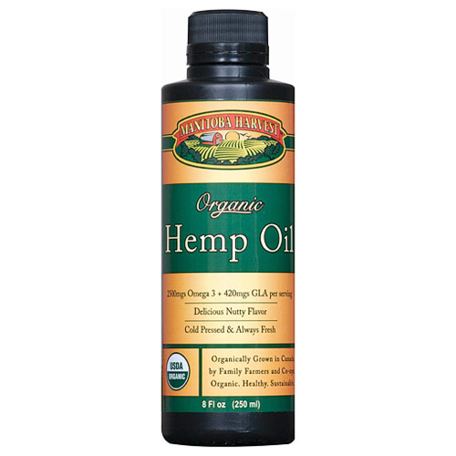 Hemp Seed Oil, Certified Organic, 8 oz, Manitoba Harvest Hemp Foods