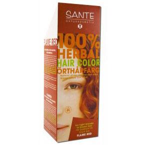 Herbal Hair Color, Flame Red, 100 g, Sante Naturkosmetik
