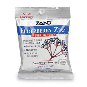 Elderberry Zinc Herbalozenge, Herbal Lozenge, 15 Lozenges, Zand