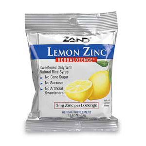 Herbal Lozenge Lemon Zinc 15 lozenges, Zand (Vitamins Supplements - Zinc)